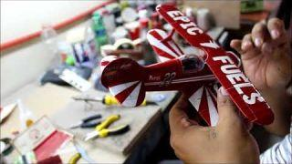 Aircraft Model built by hand. Pitt Special Acrobatic Airplane