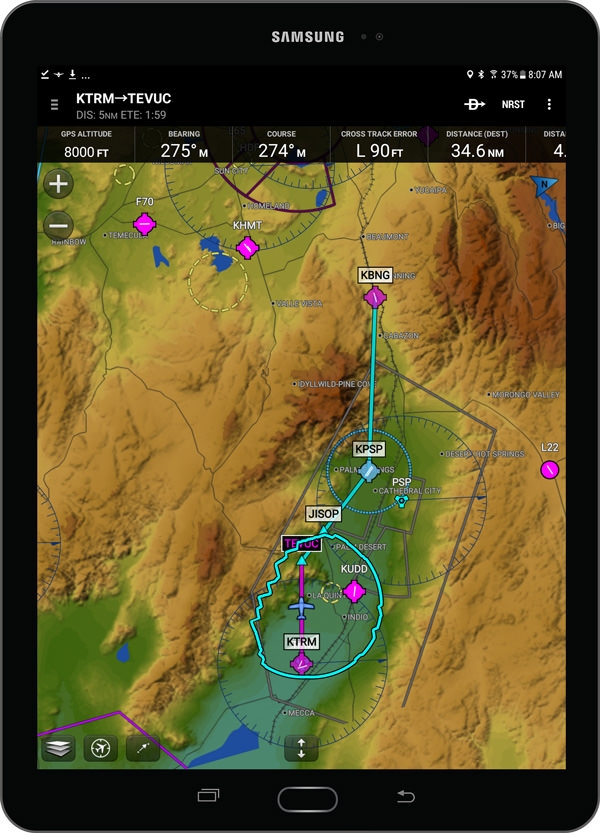 Garmin Pilot grows feature set for iOS and Android mobile devices