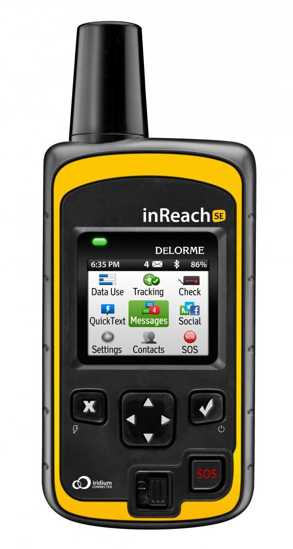 New DeLorme inReach SE personal satellite communication solution