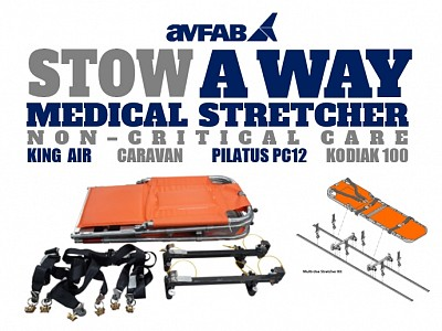 AvFab Receives TSO Approval On STOWAWAY Medical Stretcher