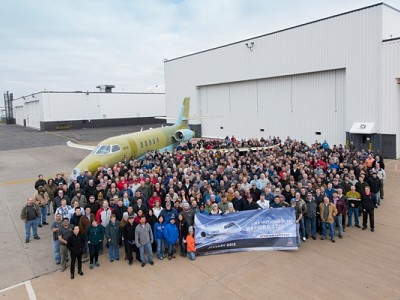 Cessna Celebrates Roll Out of First Production Citation Latitude